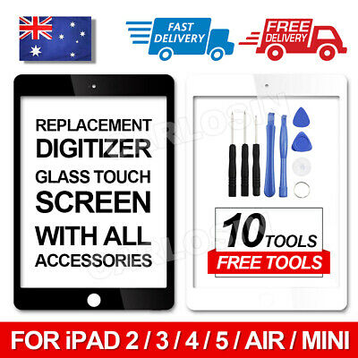 Digitizer Touch Screen Glass Replacement For iPad Air 1 2 3 4 5 6 Mini 4 3 2 1