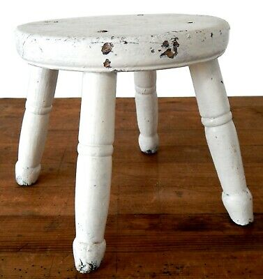 Small Antique Victorian Milking Stool - Country Furniture - Dairy - Farmhouse