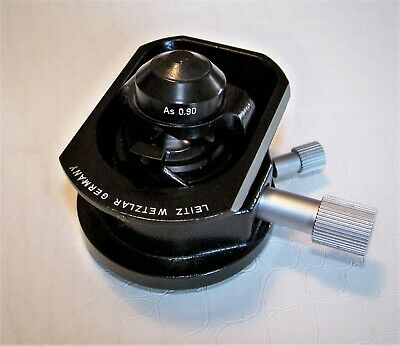 Leitz Wetzlar Microscope Condenser 600.Swing out head - AS 0.90 and AUX K1 Lens.