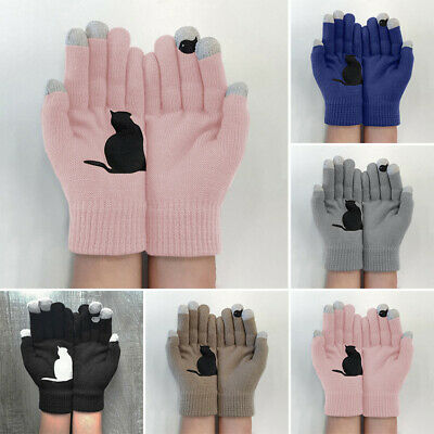 Ladies Gloves Gloves Winter Knitted Outwear Fashion Cycling 2pcs/Pair Casual