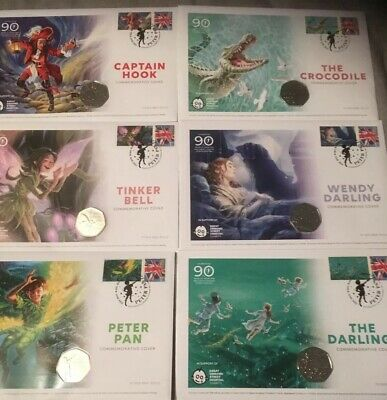 The Peter Pan Complete 50p Coin Cover Collection Ltd Edition of 995. COA 478