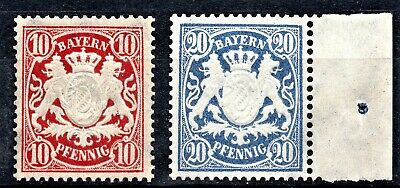 GERMANY  1888 BAYERN ISSUES [Wmk10] - MINT NEVER HINGED** - 2 SCANS
