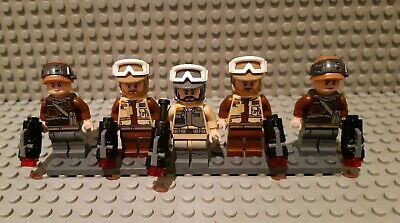 Lego Star Wars minifigures - 5 Rogue One Rebels with weapons