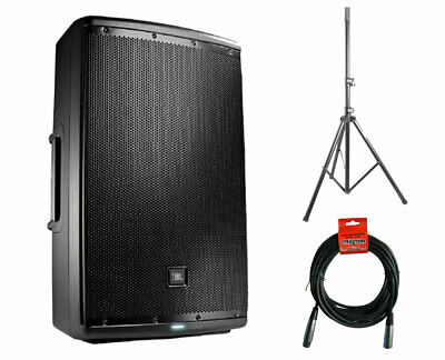 "JBL EON615 1000 Watt Powered 15"" Active Speaker + Stand + XLR Cable"