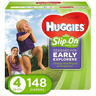 HUGGIES Little Movers Slip On Diaper Pants,Size 4