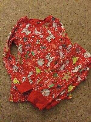 Next Girls Christmas Pyjamas Pjs Red Unicorn Age 7-8