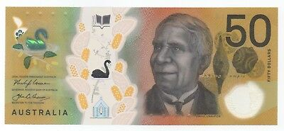 Australia $50 Unc 2018 New Polymer ERROR Note with spelling mistake!