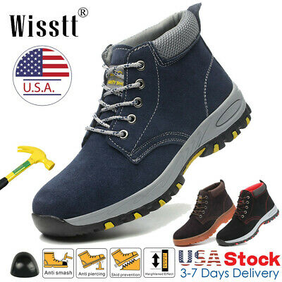 Men's Steel Toe Work Shoes Waterproof Leather Outdoor Martin Boots Hiking Shoes