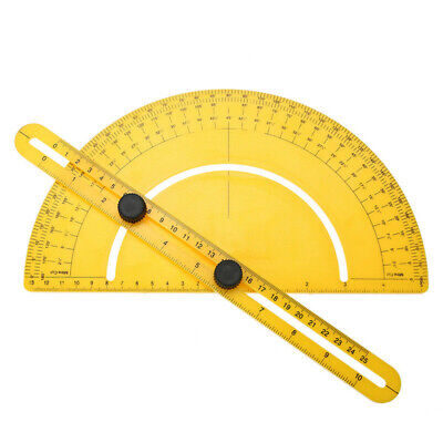 0-180 Degrees Ruler Angle Finder Protractor Goniometer Woodworking Measurement