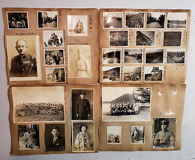 Rare WWII Chinese Army Military Pictures 115 Rifles Sword Uniform Officer Kanji