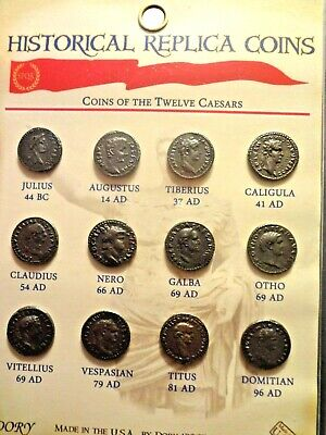 12 Imperial Roman Replica Coins Identical to the Original Ancient Coinage Issues