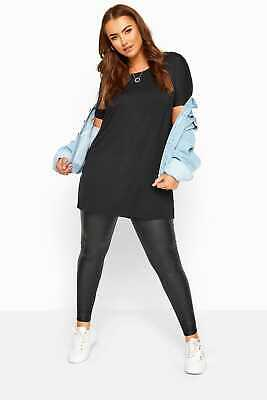 Yours Clothing Womens Plus Size Coated Leggings