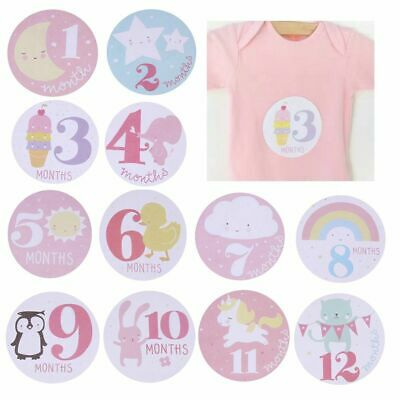 Boy Girl Newborn Decoration Monthly Stickers Baby Shower Lable Party Accessory