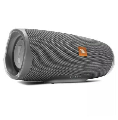 New Factory Sealed JBL Charge 4 Waterproof Portable Bluetooth Speaker - Gray