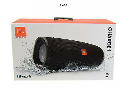 NEW SEALED JBL Charge 4 - Black Portable Waterproof Wireless Bluetooth Speaker