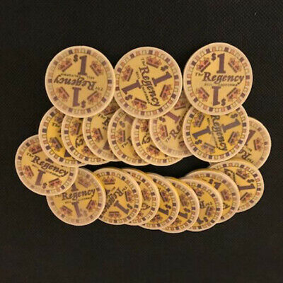 20 chips $1 The Regency, Bell  CA, CHIPCO mold, table used shape