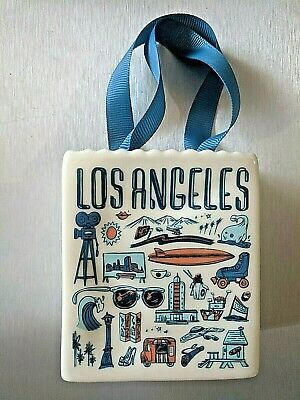 Starbucks Holiday 2019 Los Angeles Been There Ceramic Ornament Gift Bag NEW cali