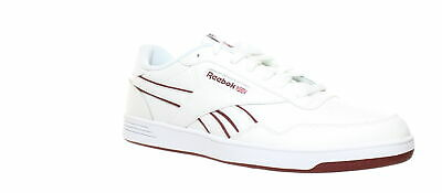 Reebok Mens Club Memt White/Lux Maroon/White Tennis Shoes Size 12