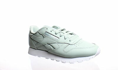 Reebok Womens Classic Leather Sea Spray/White Running Shoes Size 6.5