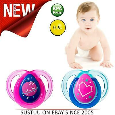 Tommee Tippee Closer to Nature Night Time Soother│Baby Orthodontic│0-6 M│Pink