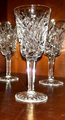 """Waterford Crystal SHANNON JUBILEE Sherry Glass 5-1/8"""" - MINT, 4 Available"""