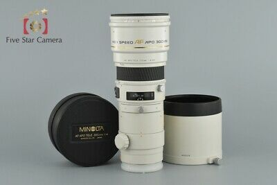 Excellent-!! Minolta HIGH SPEED AF APO TELE 300mm f/4 G