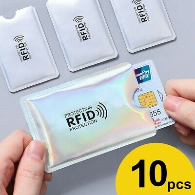 10pcs RFID Blocking Sleeve Credit Card Protector Bank Card Holder Wallets Safe