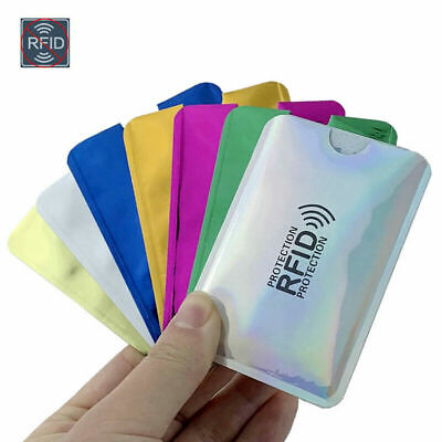 10Pcs RFID Secure Credit Card Blocking Sleeve Protector Wallet Anti Theft Scan