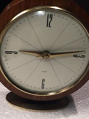 """Vintage """"SMITHS"""" England 8 Day Mech Move Mantle Clock In Working Order"""