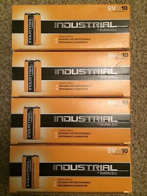 40 X Duracell 9V PP3 Industrial PROCELL Batteries Smoke Alarm Dated  March 2023