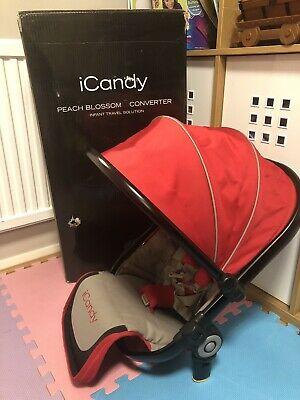 iCandy Peach Sherbet red converter lower seat