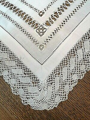Beautiful cotton white with diamante Lace sew Trim x 1yd