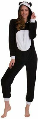 Loungeable Adult All In One 3D Panda Snuggly Luxurious Hooded Play Jumpsuit Nu S