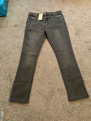 M&S Kids Boys Denim Skinny Adjustable Waist Jeans Age 15-16 Yrs Bnwt Sameday P&p