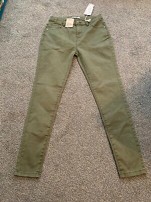 M&S Kids Girls Khaki Skinny Adjustable Waist Jeans Age 12-13 Yr Bnwt Sameday P&p