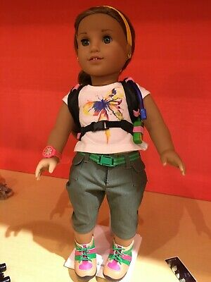 NEW American Girl Lea/'s 3-in-1 Set Rainforest Hike Outfit Hiking Accessories Pjs