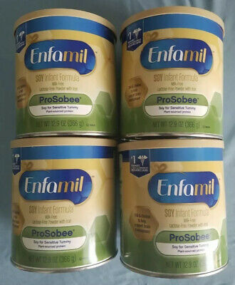 4 Enfamil ProSobee Soy-Based Infant Formula - Sensitive Tummies - Powder 12.9 oz
