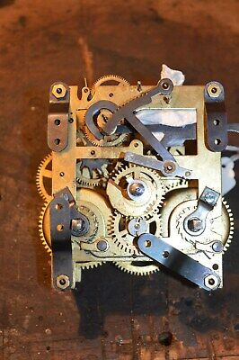 Vintage Mantle Clock Movements Is Possibly Kienzle Showing Clock Dial Stamp