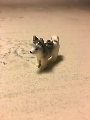 1 x LEGO City 17817 Minifigure Animal Chien Husky blanc, white Dog NEUF NEW