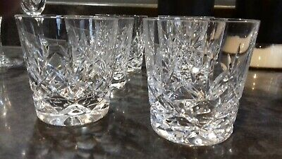 Richmond hand cut 24% lead crystal whisky glasses set of 6