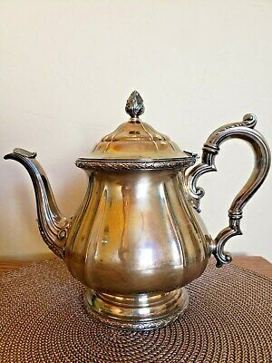 """Art Deco Gorham Silver Plated 8"""" Silverplate 2.5 Pint Coffee/ Teapot  Y902"""