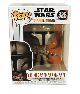 Funko POP! The Mandalorian #326 Star Wars Vinyl Figure with Blaster New in Box