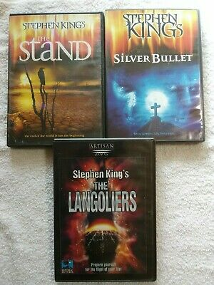Stephen King's THE STAND, SILVER BULLET & THE LANGOLIERS all NrMint/perfect DVDs