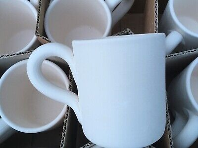 12 x ceramic bisque mugs ceramic cafe Christmas new paint your own