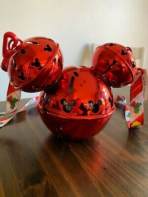 Disney Parks 2019 Christmas Light Up Mickey Jingle Bell Sipper cup
