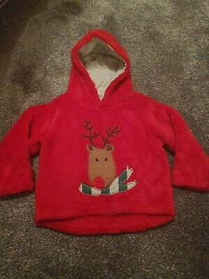 Gorgeous Next Supersoft Red Christmas Hoody 18-24months