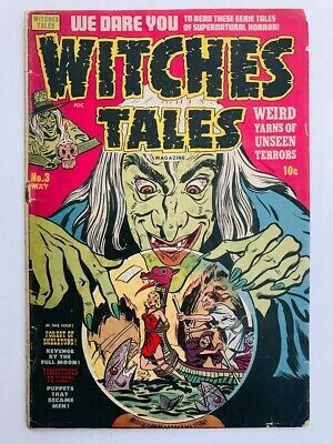 Witches Tales #3 - Pre-code Horror - Harvey Comics - 10 cents