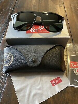 Ray-Ban Rb4147 601/32 Black Crystal Gray Gradient Sunglasses Polarized MSRP $158