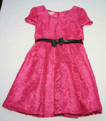 Girls Bluezoo pink Lacey Christmas party dress age 10 years