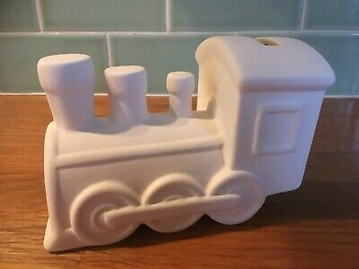 Paint your own ceramic train money box with paints new